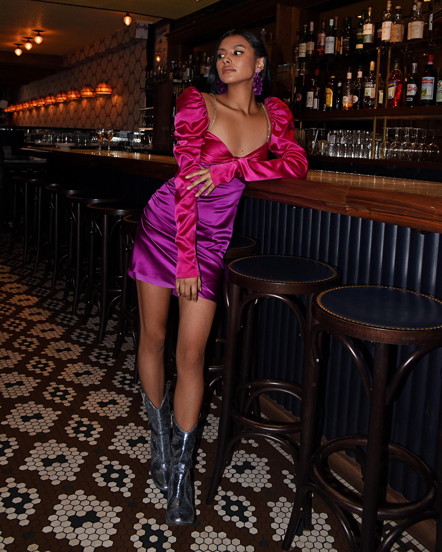 The Bar Twist-Top Mini Dress 2