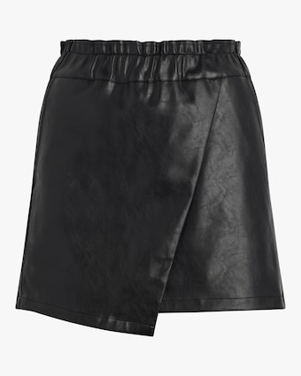 Joe's Jeans Faux Leather Wrap Mini Skirt 1