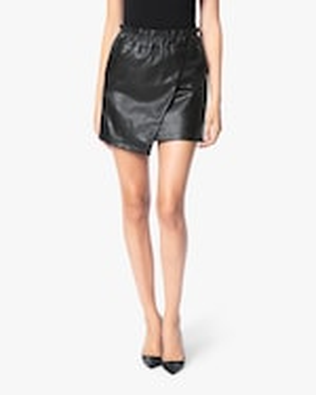 Joe's Jeans Faux Leather Wrap Mini Skirt 1