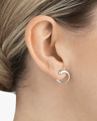 Georg Jensen Jewelry Mercy 634B Hoop Earrings 2