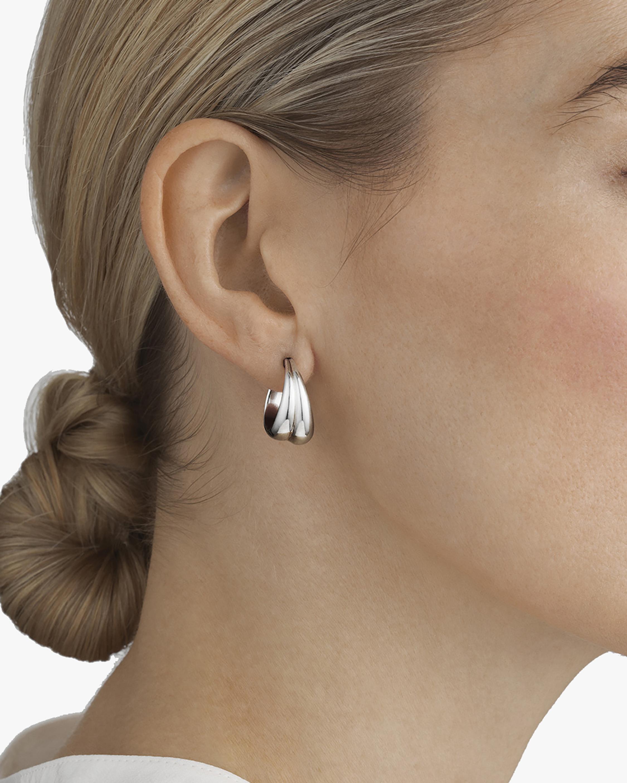 Georg Jensen Jewelry Curve 501B Hoop Earrings 2