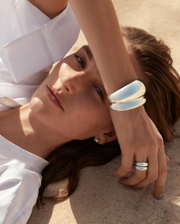 Georg Jensen Jewelry Curve 501B Cuff 2