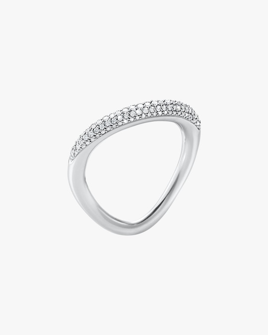 Georg Jensen Jewelry Offspring 433A Pavé Diamond Ring 0