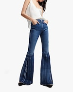 7 For All Mankind Mega Flare Pleated Jeans 1