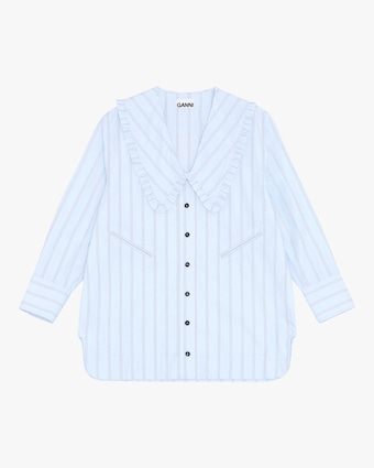 Ganni Striped Button-Up 2