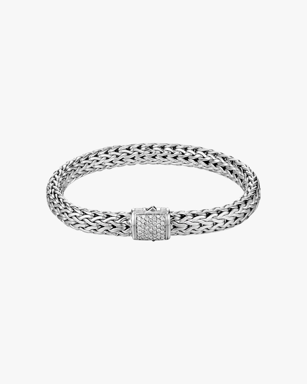 John Hardy Classic Chain Diamond Pavé Medium Bracelet 1