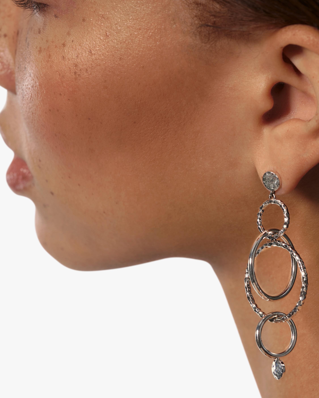 John Hardy Dot Hammered Orbital Drop Earrings 2