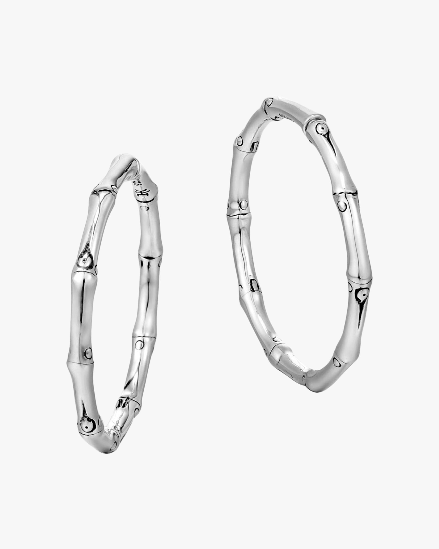 John Hardy Bamboo Medium Hoop Earrings 1