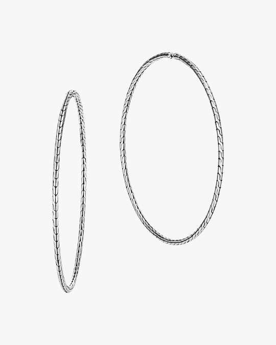 John Hardy Classic Chain Extra-Large Hoop Earrings 0