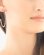 John Hardy Bamboo Lava Large Hoop Earrings 1