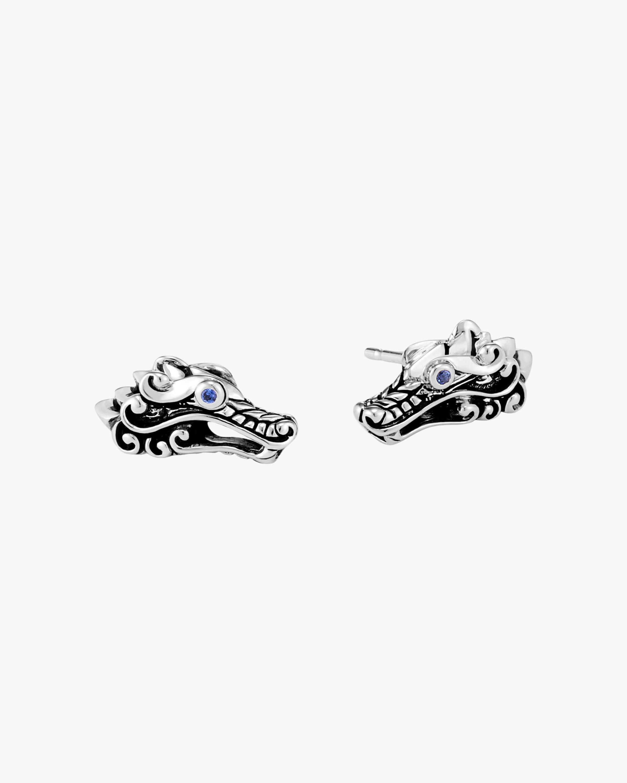 John Hardy Legends Naga Blue Sapphire Stud Earrings 0