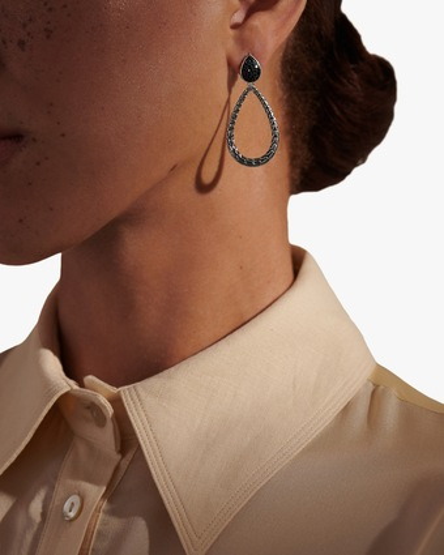 John Hardy Classic Chain Pear Drop Earrings 2