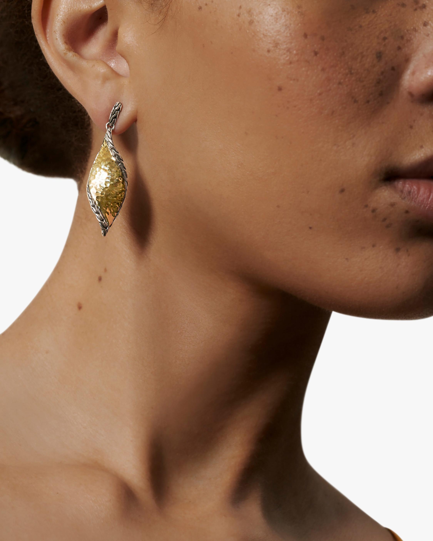John Hardy Classic Chain Wave Hammered Drop Earrings 1
