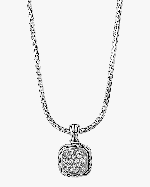 John Hardy Classic Chain Pavé Diamond Pendant Necklace 1