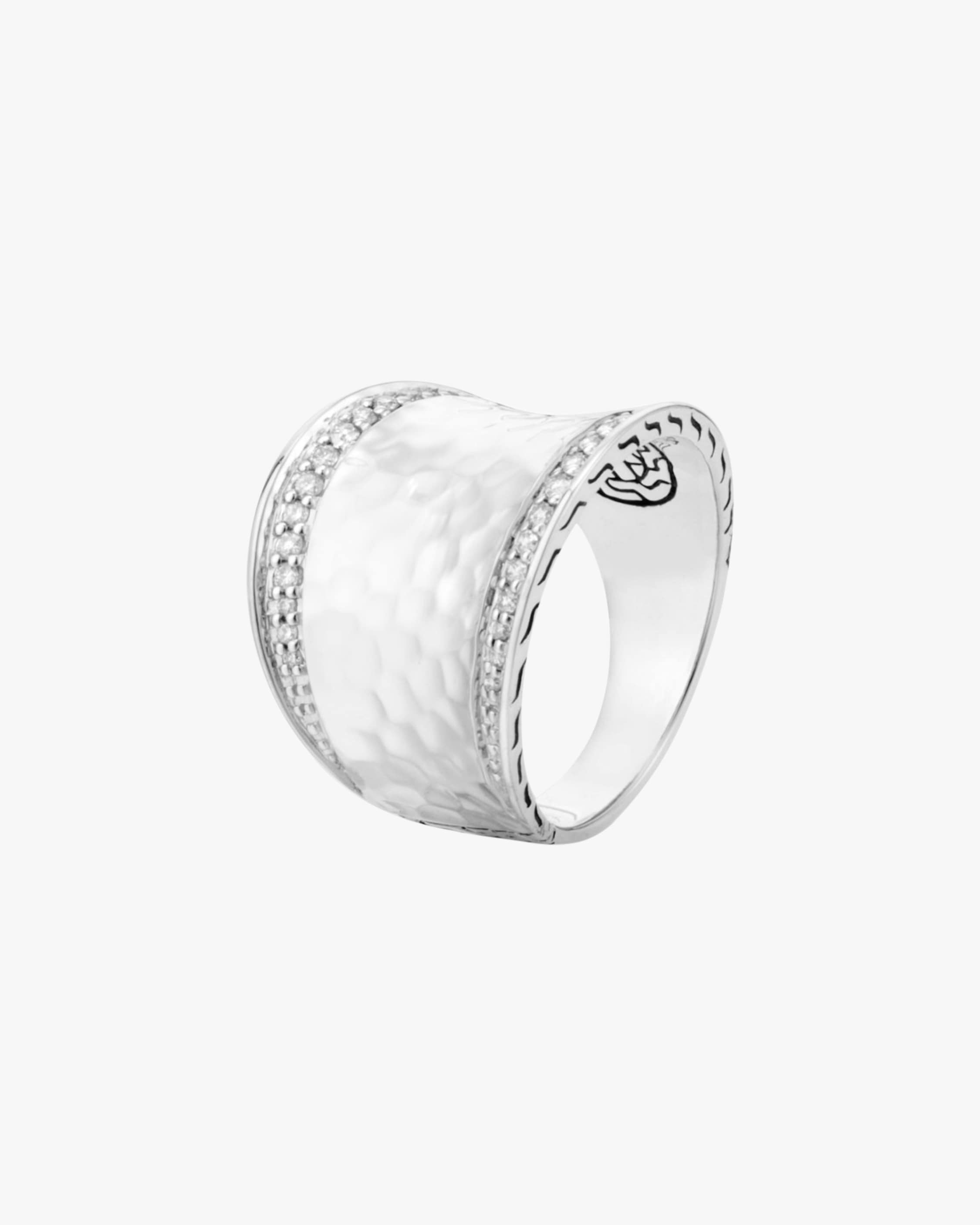 John Hardy Classic Chain Hammered Ring 1