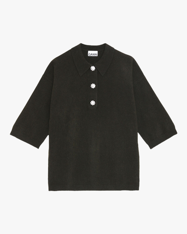 Ganni Cashmere Knit Polo 2