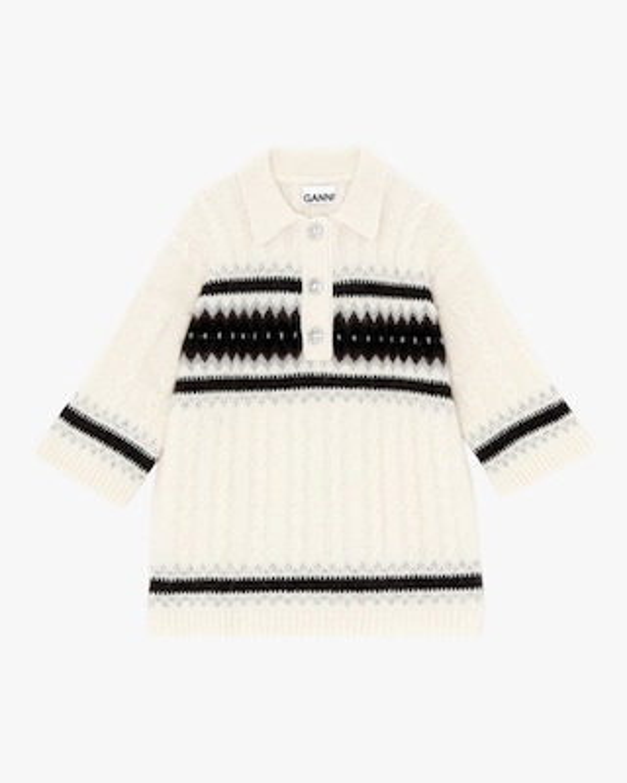 Ganni Wool-Blend Knit Pullover 2