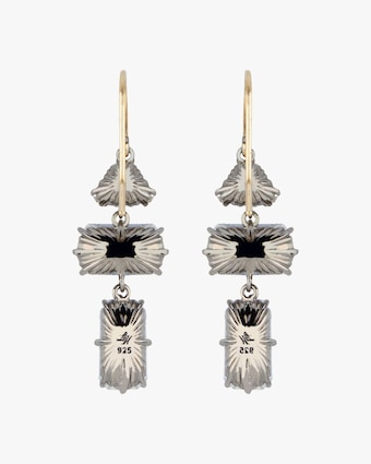 Larkspur & Hawk Caterina Baguette 3-Drop Earrings 2