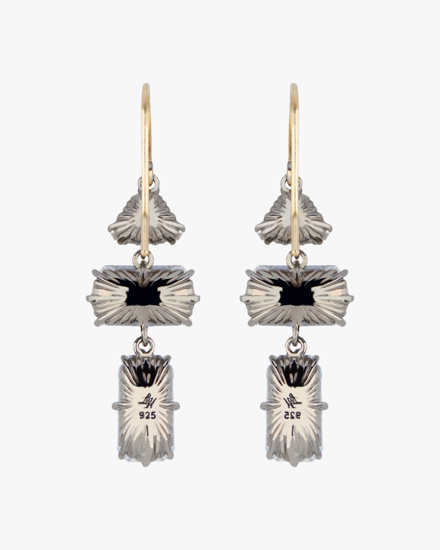 Larkspur & Hawk Caterina Baguette 3-Drop Earrings 2
