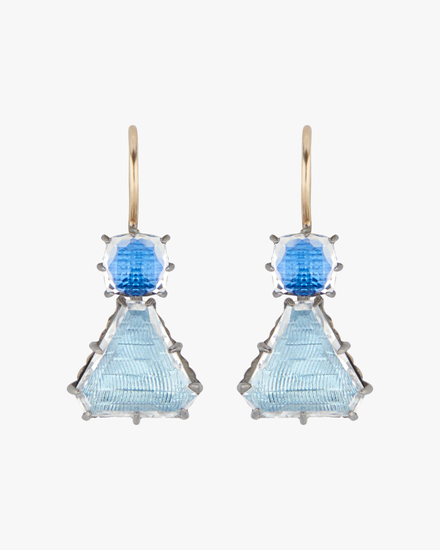 Larkspur & Hawk Caterina Geometric One-Drop Earrings 1
