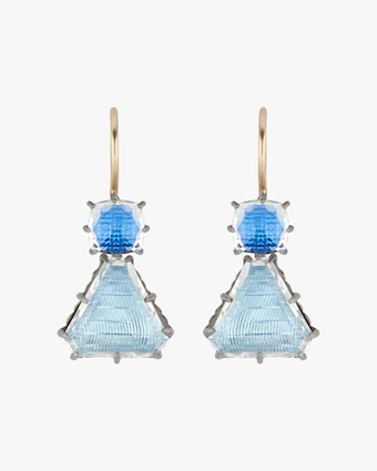 Larkspur & Hawk Caterina Geometric One-Drop Earrings 1
