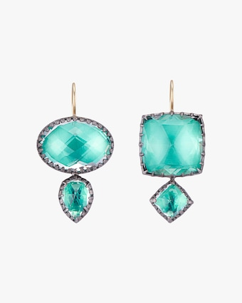 Larkspur & Hawk Sadie Mis-Matched Double Drop Earrings 1
