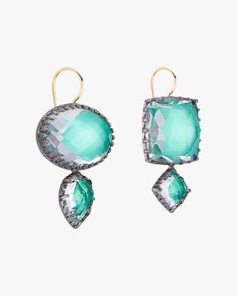 Larkspur & Hawk Sadie Mis-Matched Double Drop Earrings 2
