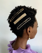 Lelet NY Dot Your Pearl French Barrette 1