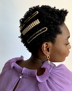 Lelet NY Dot Your Pearl French Barrette 2