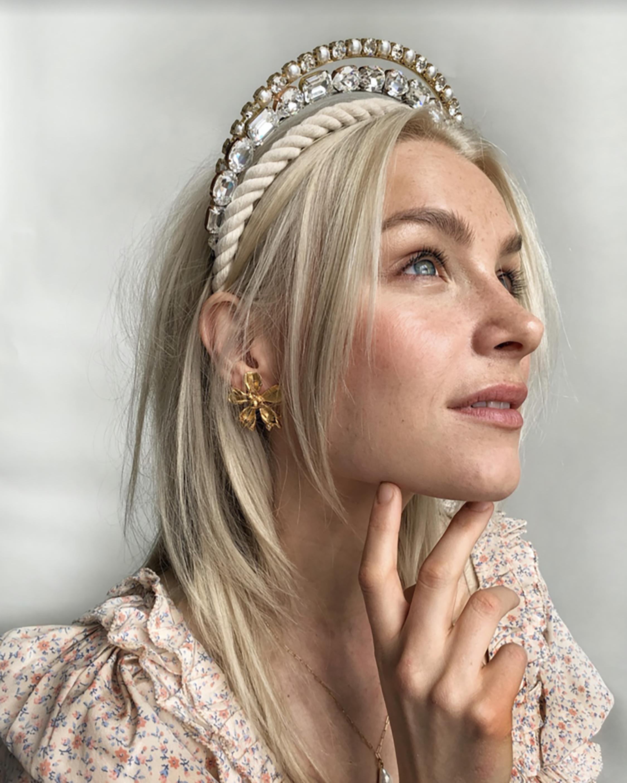 Lelet NY Jules Crystal Headband 2