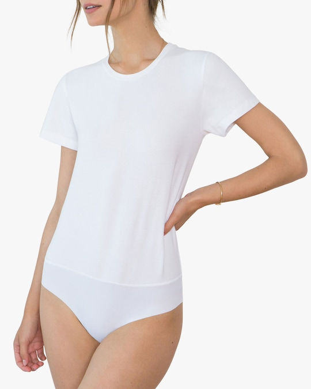 Santicler Jen Organic Cotton Crewneck Bodysuit 0