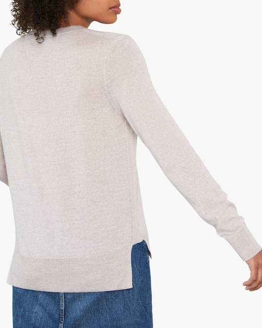 Santicler Emma Merino Wool V-Neck Sweater 1