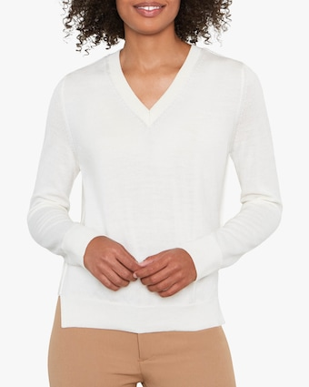 Santicler Emma Merino Wool V-Neck Sweater 1