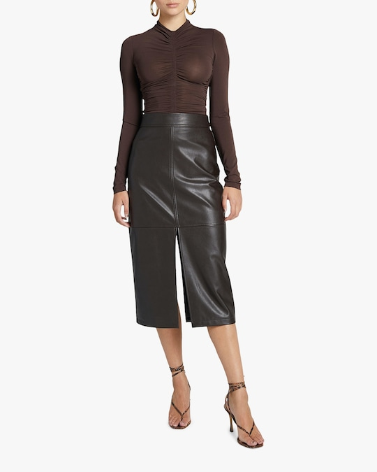 A.L.C. Moss Faux Leather Skirt 0
