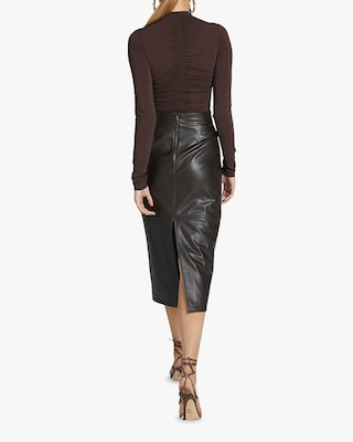 A.L.C. Moss Faux Leather Skirt 2
