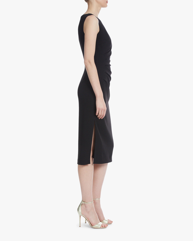 Badgley Mischka Side-Pleated Day Dress 1