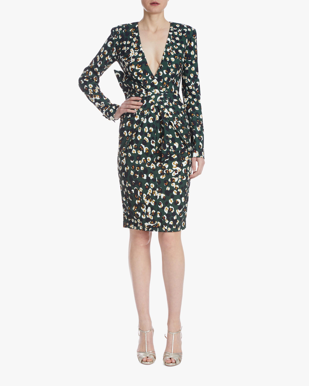 Badgley Mischka Asymmetrical-Waist Dress 1