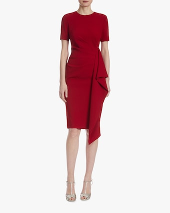 Badgley Mischka Asymmetrical-Ruffle Dress 1