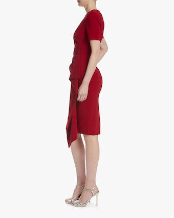 Badgley Mischka Asymmetrical-Ruffle Dress 2