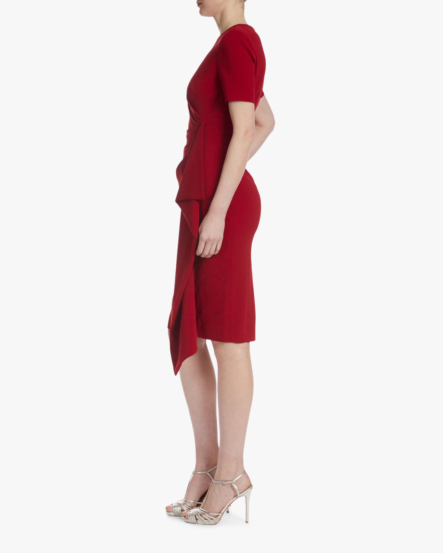 Badgley Mischka Asymmetrical-Ruffle Dress 1