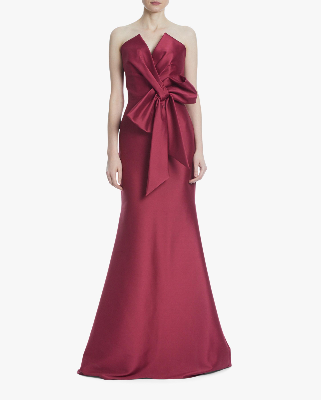 Badgley Mischka Bow Strapless Gown 0
