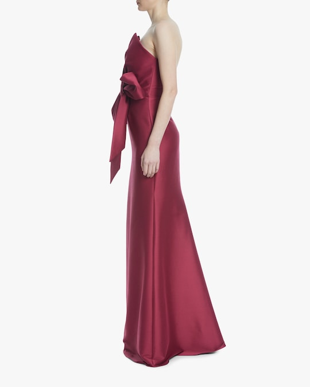 Badgley Mischka Bow Strapless Gown 1