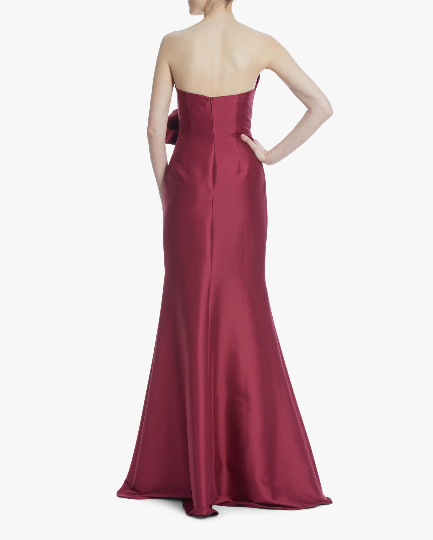 Badgley Mischka Bow Strapless Gown 2