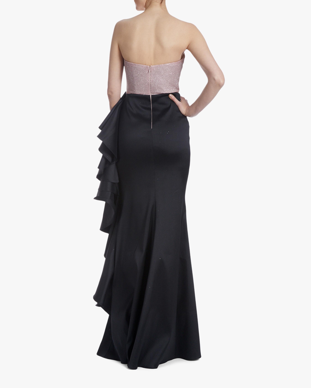Badgley Mischka Asym Ruffle Gown 2