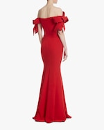 Badgley Mischka Off-Shoulder Gown 2