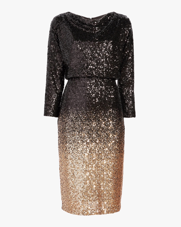 Badgley Mischka Ombré Sequin Dress 0