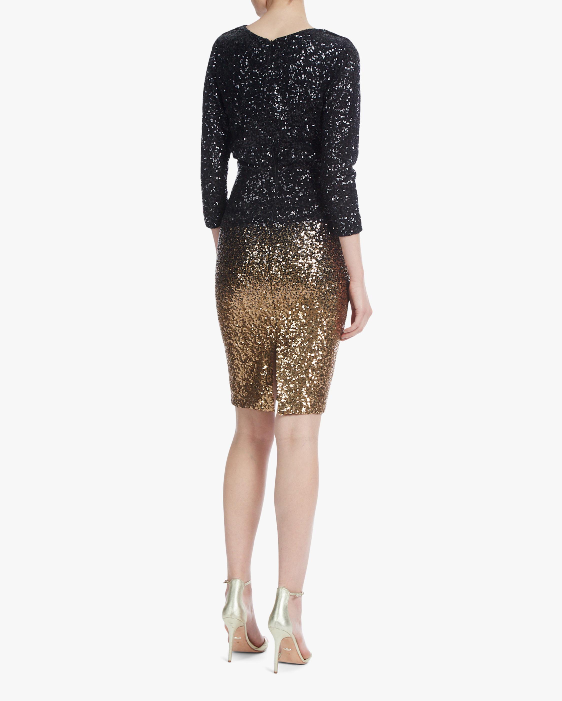 Badgley Mischka Ombré Sequin Dress 2