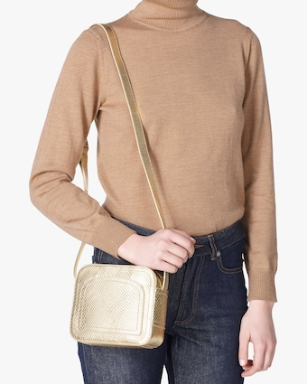 A.P.C. Gold Louisette Crossbody Bag 2