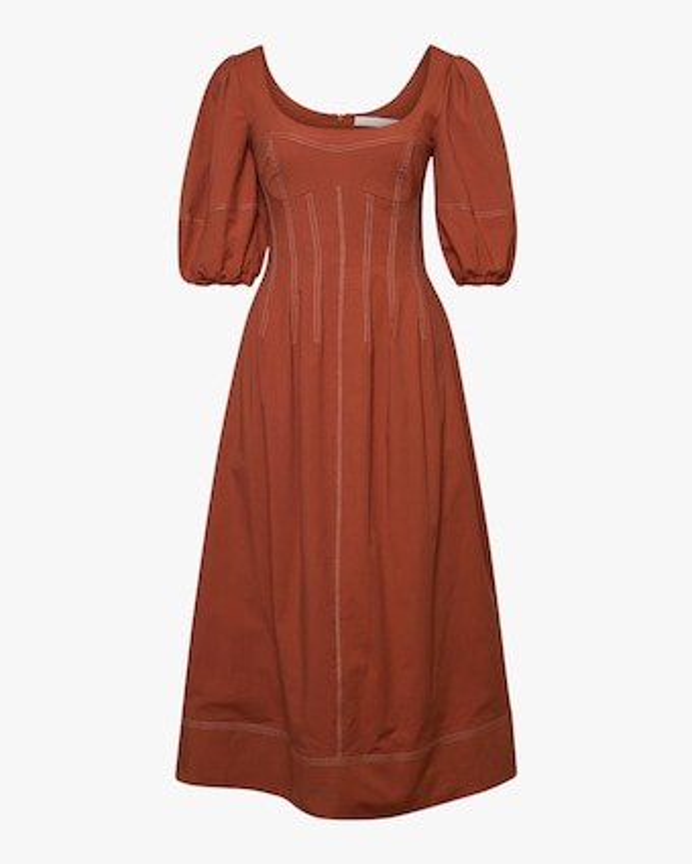 Jonathan Simkhai Lena Puff-Sleve Midi Dress 1