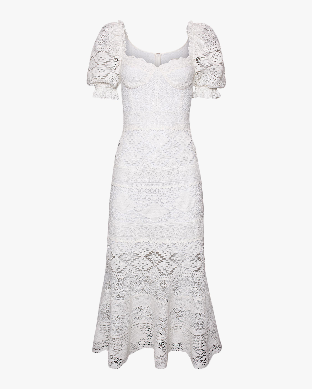 Jonathan Simkhai Eden Puff-Sleeve Bustier Midi Dress 1